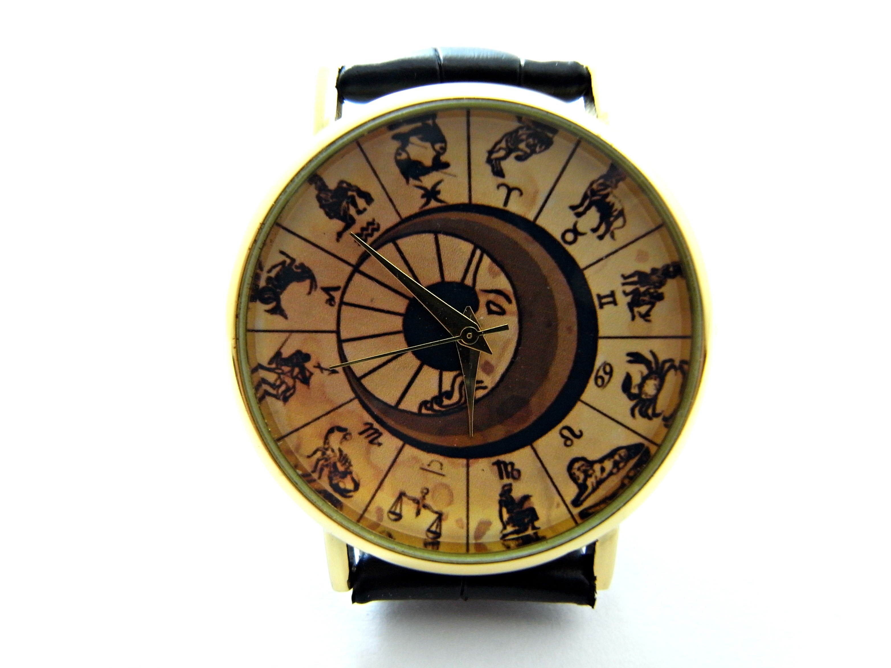 listing watch leather astrology watches zoom il vintage style astonomy fullxfull zodiac